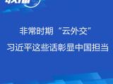 """联播+丨非常时期""""云外交"""" 习近平这些话彰显中国担当"""