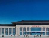 永安高铁南站1号、2号风雨连廊初具规模